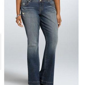 Torrid Distressed Flare Jeans 24